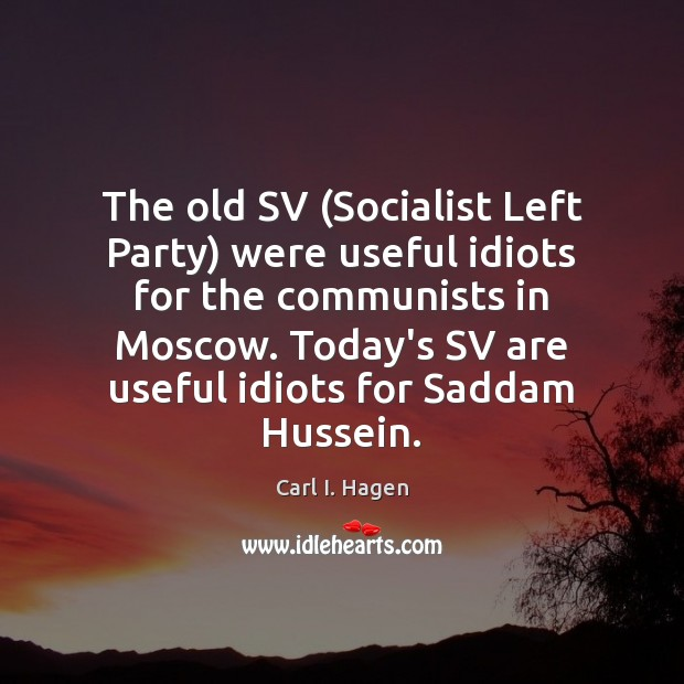 Image, The old SV (Socialist Left Party) were useful idiots for the communists