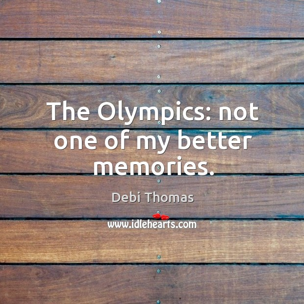 The olympics: not one of my better memories. Image