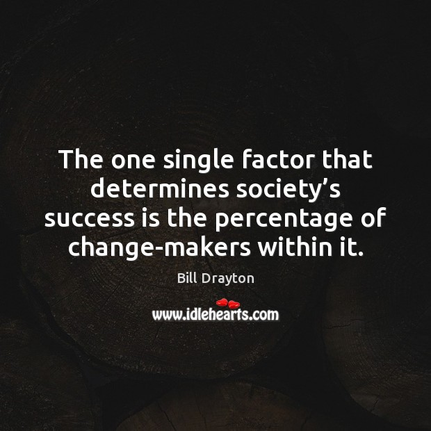 Image, The one single factor that determines society's success is the percentage