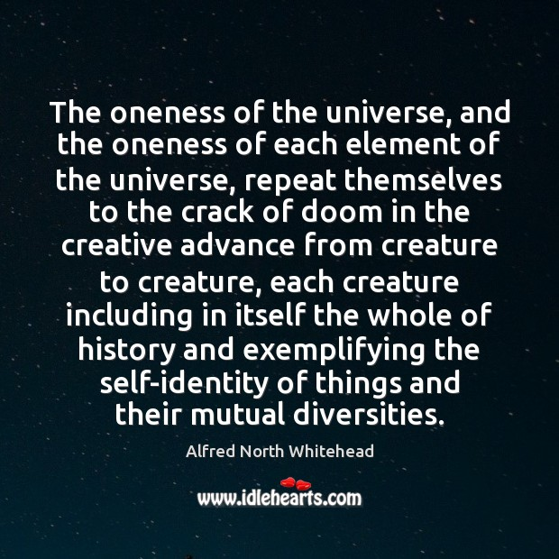 The oneness of the universe, and the oneness of each element of Image