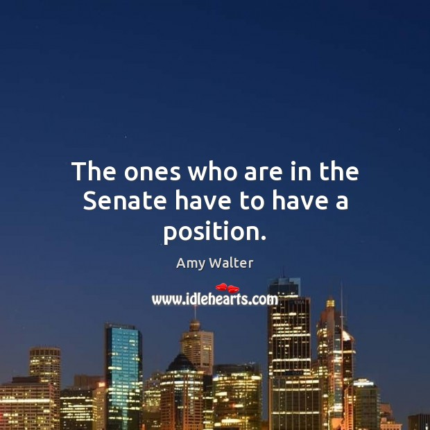 Image, The ones who are in the Senate have to have a position.