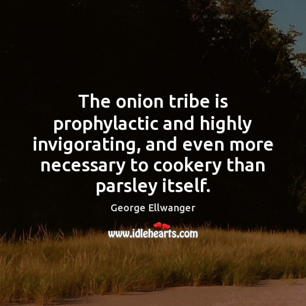 Image, The onion tribe is prophylactic and highly invigorating, and even more necessary