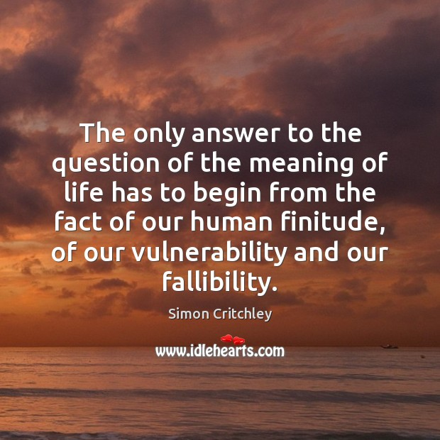 The only answer to the question of the meaning of life has Image