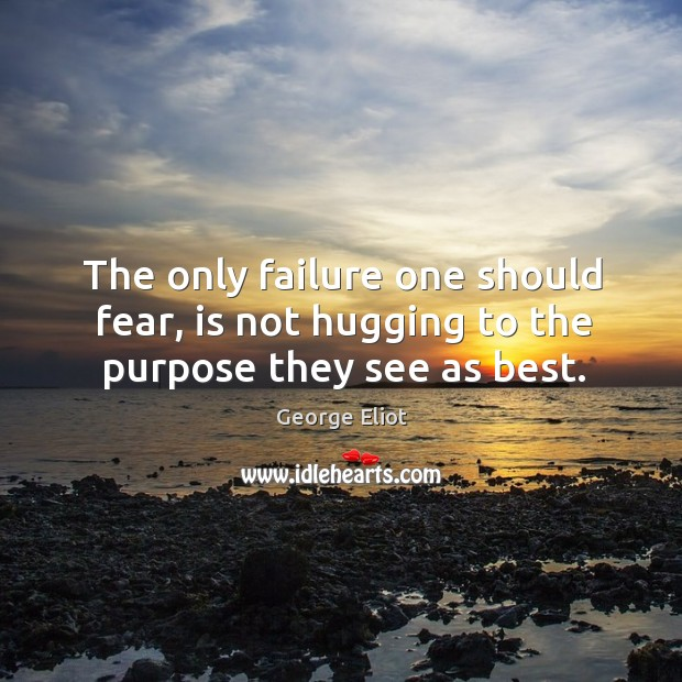 Image, The only failure one should fear, is not hugging to the purpose they see as best.