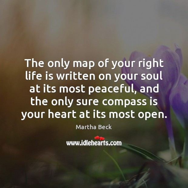 The only map of your right life is written on your soul Image