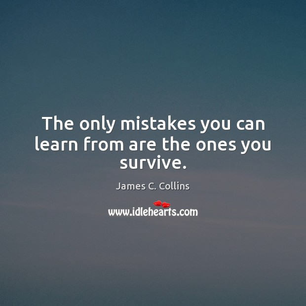 The only mistakes you can learn from are the ones you survive. Image