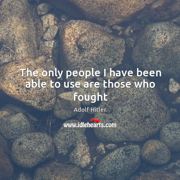 The only people I have been able to use are those who fought Image