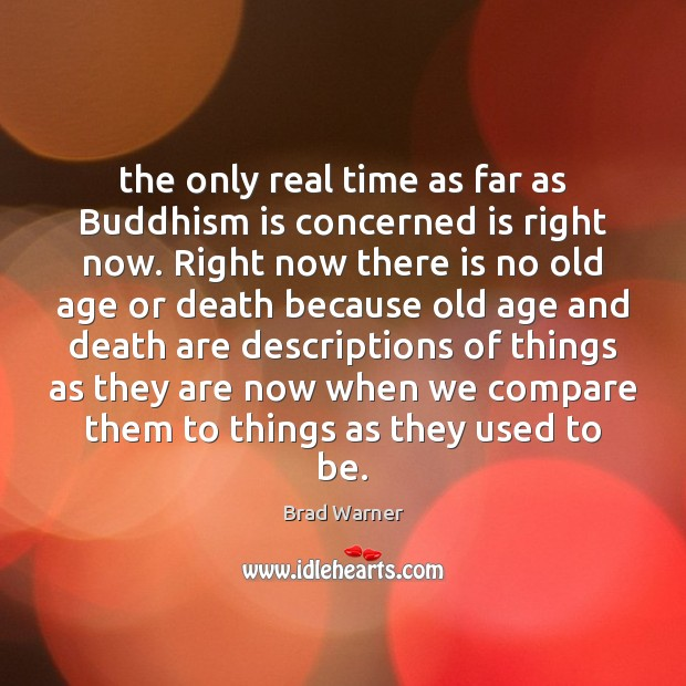 The only real time as far as Buddhism is concerned is right Brad Warner Picture Quote