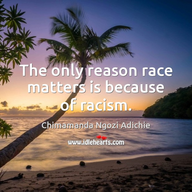 Image, The only reason race matters is because of racism.