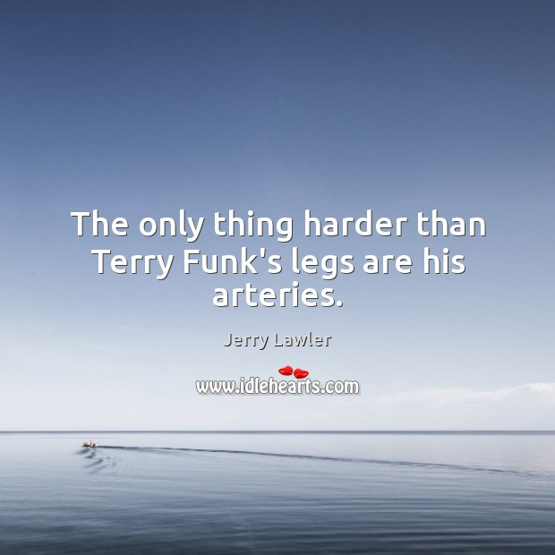 The only thing harder than Terry Funk's legs are his arteries. Image
