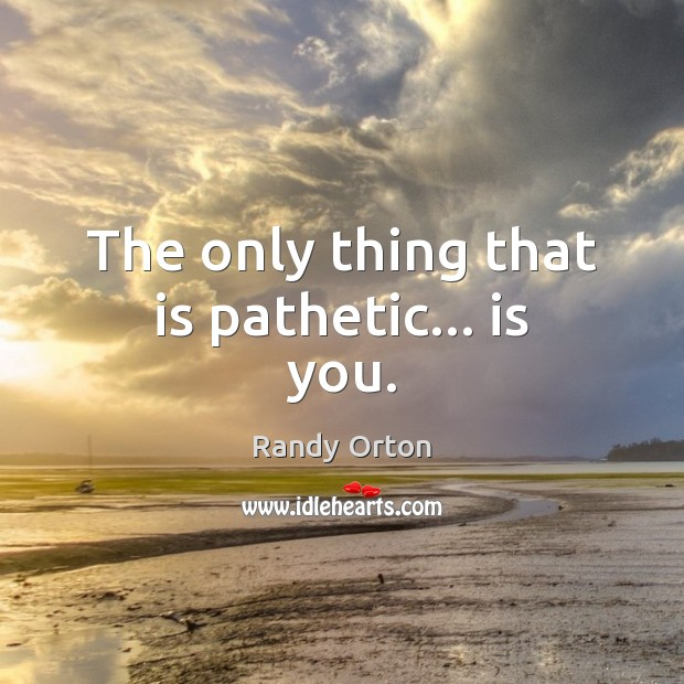 The only thing that is pathetic… is you. Image