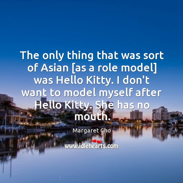 Image, The only thing that was sort of Asian [as a role model]