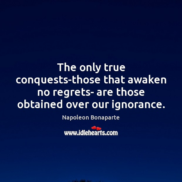 The only true conquests-those that awaken no regrets- are those obtained over Image