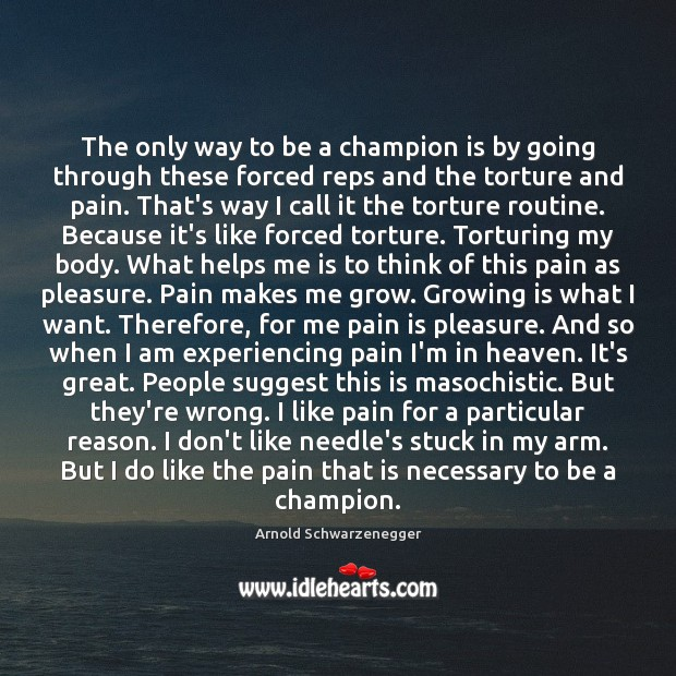 Image, The only way to be a champion is by going through these