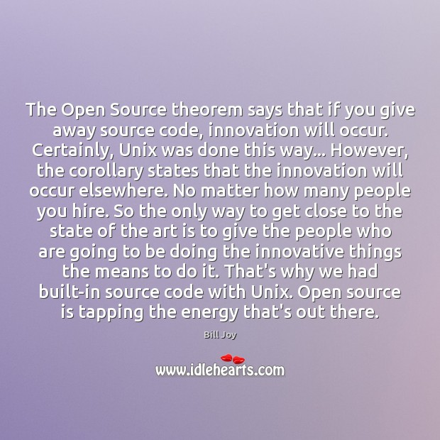 Image, The Open Source theorem says that if you give away source code,