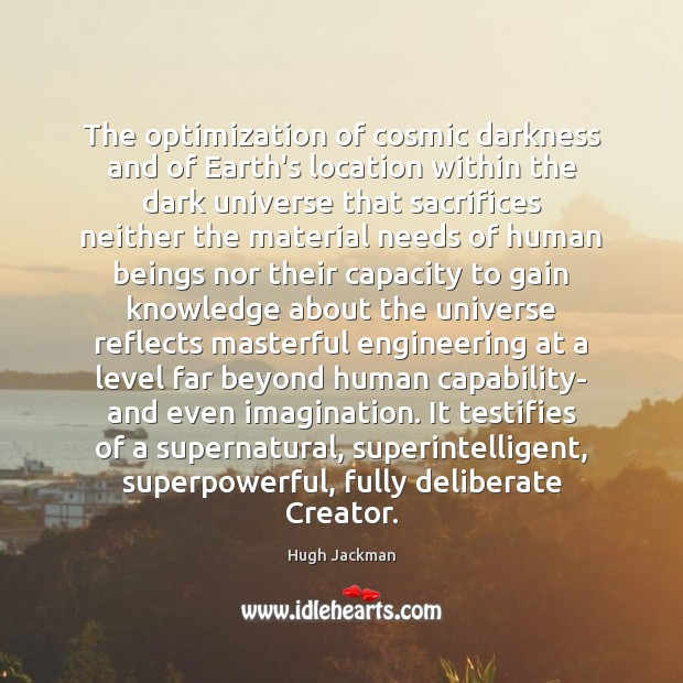 Image, The optimization of cosmic darkness and of Earth's location within the dark