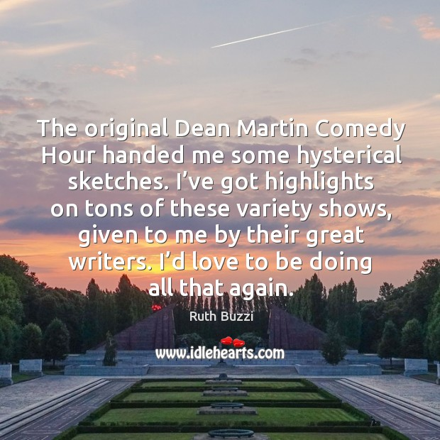 The original dean martin comedy hour handed me some hysterical sketches. Image
