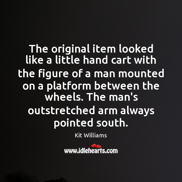 Image, The original item looked like a little hand cart with the figure