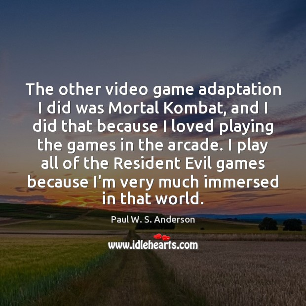 Image, The other video game adaptation I did was Mortal Kombat, and I