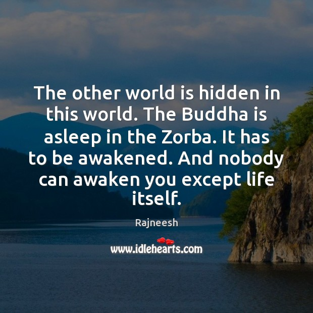 The other world is hidden in this world. The Buddha is asleep Image