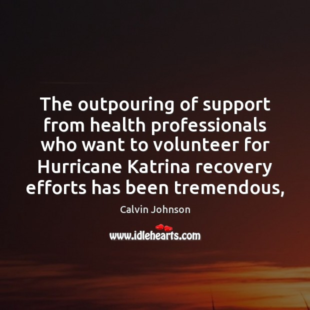 Image, The outpouring of support from health professionals who want to volunteer for