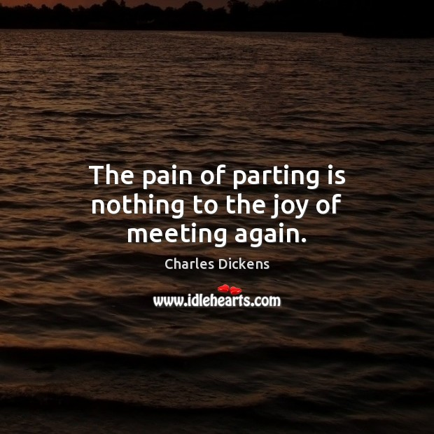Image, The pain of parting is nothing to the joy of meeting again.