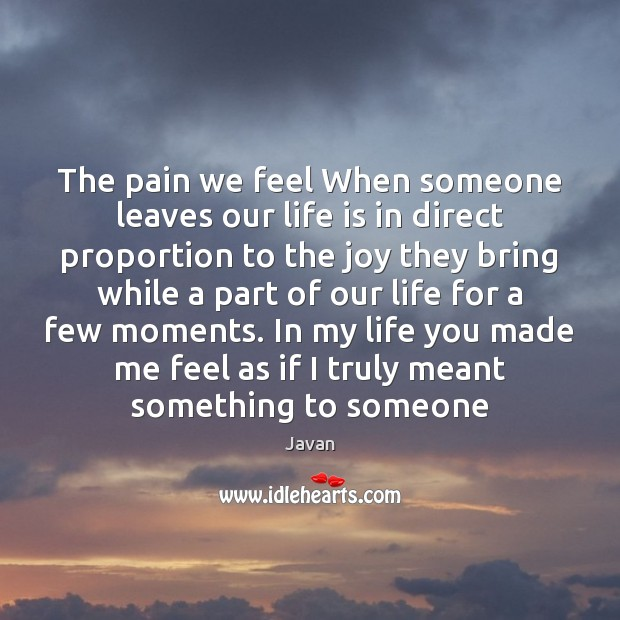 Image, The pain we feel When someone leaves our life is in direct