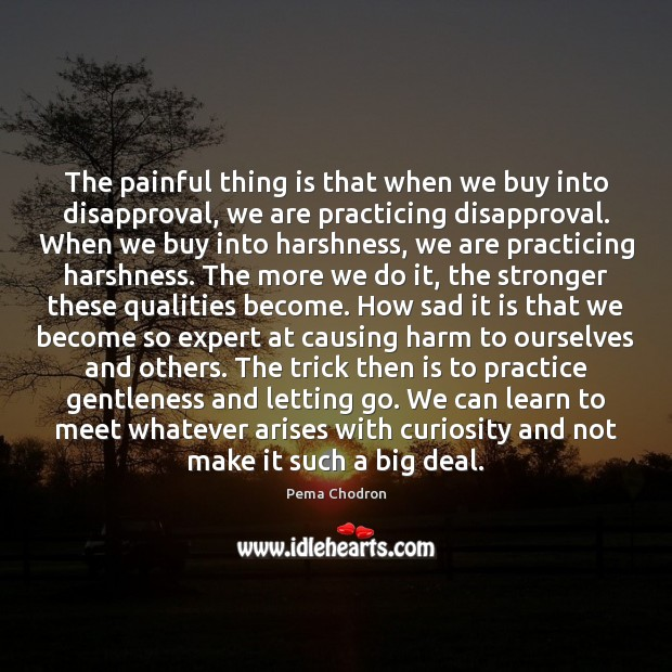 Image, The painful thing is that when we buy into disapproval, we are
