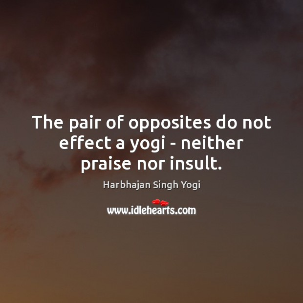 The pair of opposites do not effect a yogi – neither praise nor insult. Insult Quotes Image