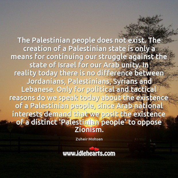Image, The Palestinian people does not exist. The creation of a Palestinian state