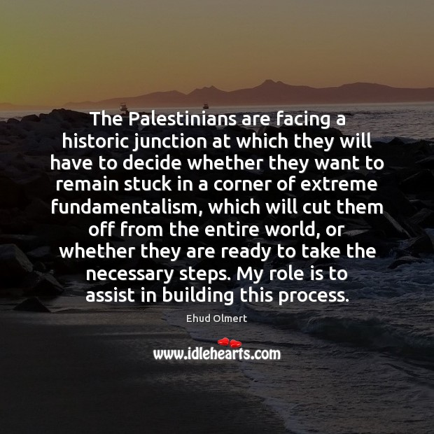 Image, The Palestinians are facing a historic junction at which they will have