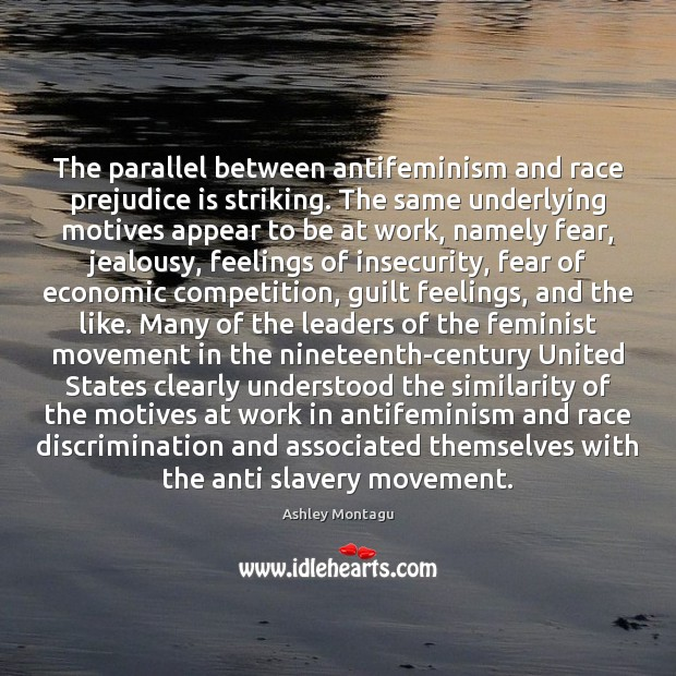 Image, The parallel between antifeminism and race prejudice is striking. The same underlying