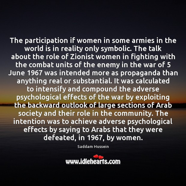 The participation if women in some armies in the world is in Image