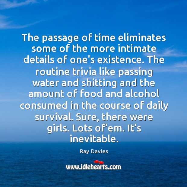 The passage of time eliminates some of the more intimate details of Image