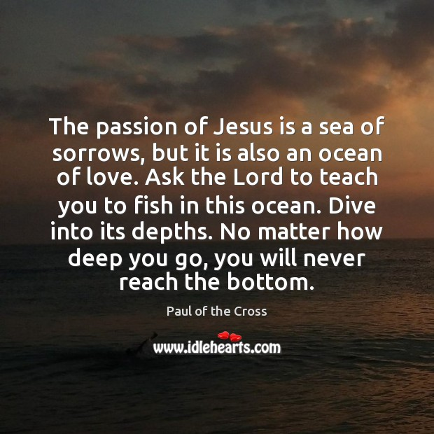 The passion of Jesus is a sea of sorrows, but it is Paul of the Cross Picture Quote