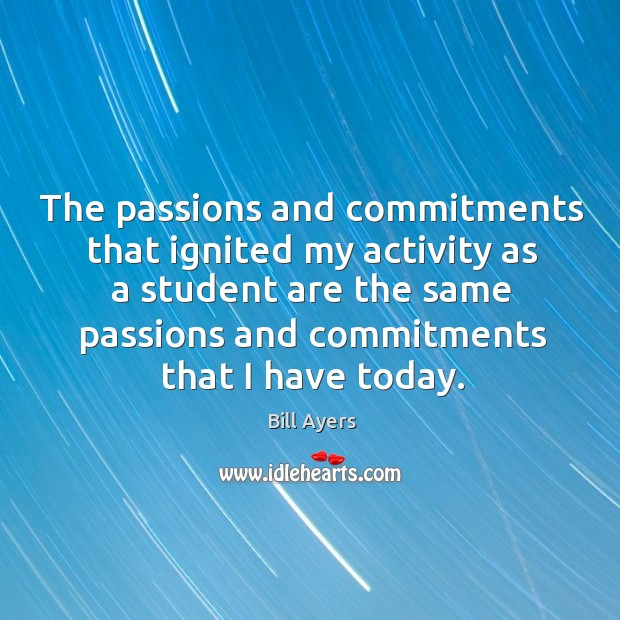 Image, The passions and commitments that ignited my activity as a student are