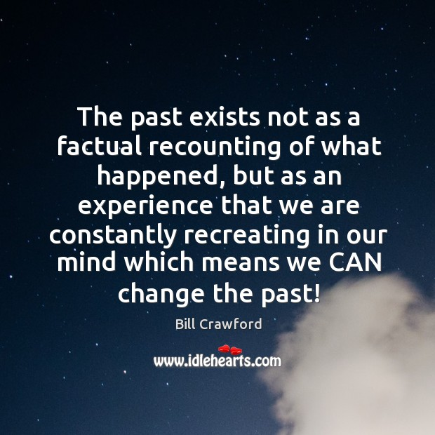 The past exists not as a factual recounting of what happened, but Image