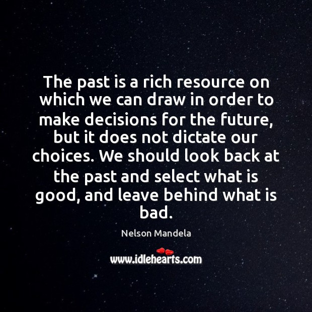 The past is a rich resource on which we can draw in Image