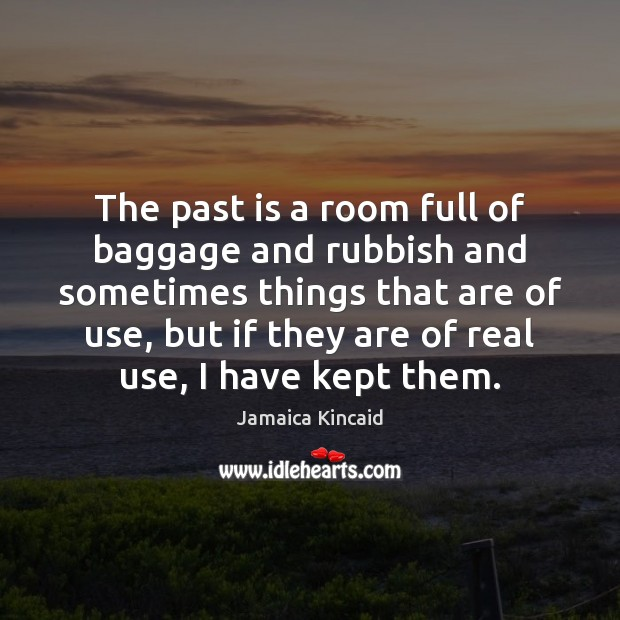 The past is a room full of baggage and rubbish and sometimes Past Quotes Image