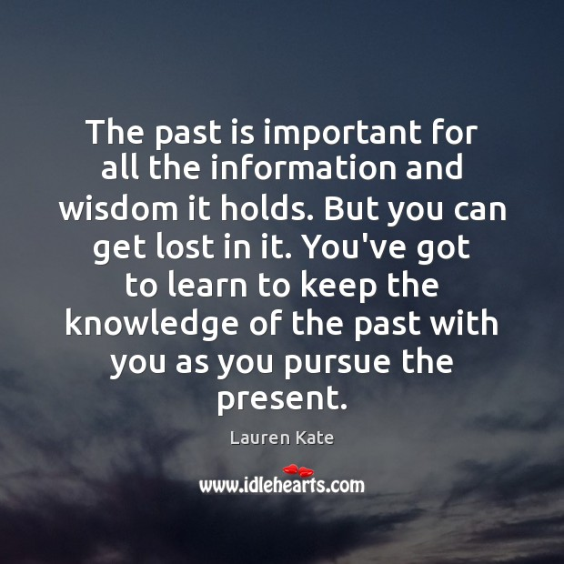 The past is important for all the information and wisdom it holds. Past Quotes Image