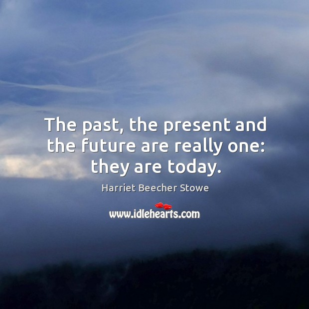 The past, the present and the future are really one: they are today. Image