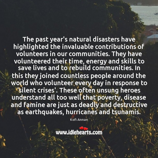 Image, The past year's natural disasters have highlighted the invaluable contributions of volunteers