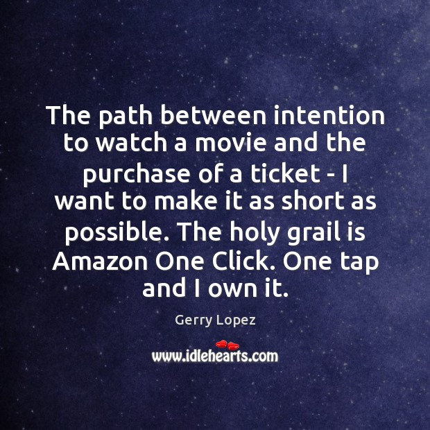 The path between intention to watch a movie and the purchase of Image