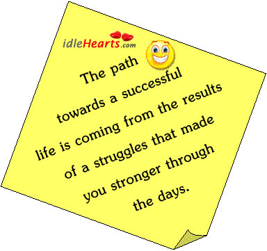 The Path Towards A Successful Life Is Coming…