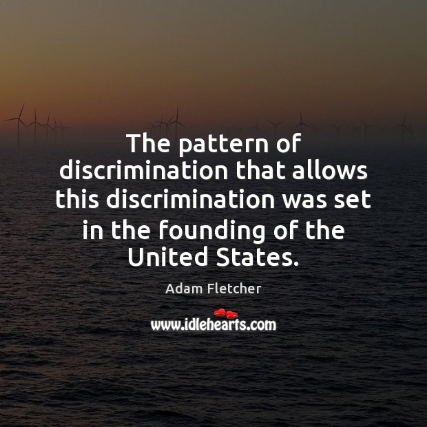 Image, The pattern of discrimination that allows this discrimination was set in the