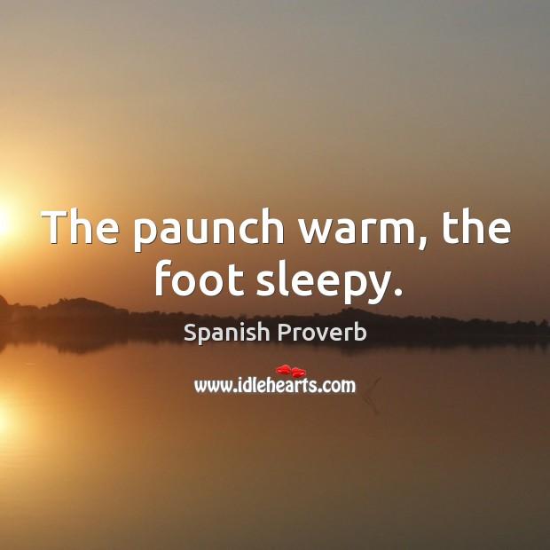 Image, The paunch warm, the foot sleepy.