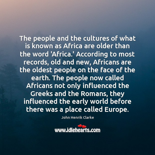The people and the cultures of what is known as Africa are Image