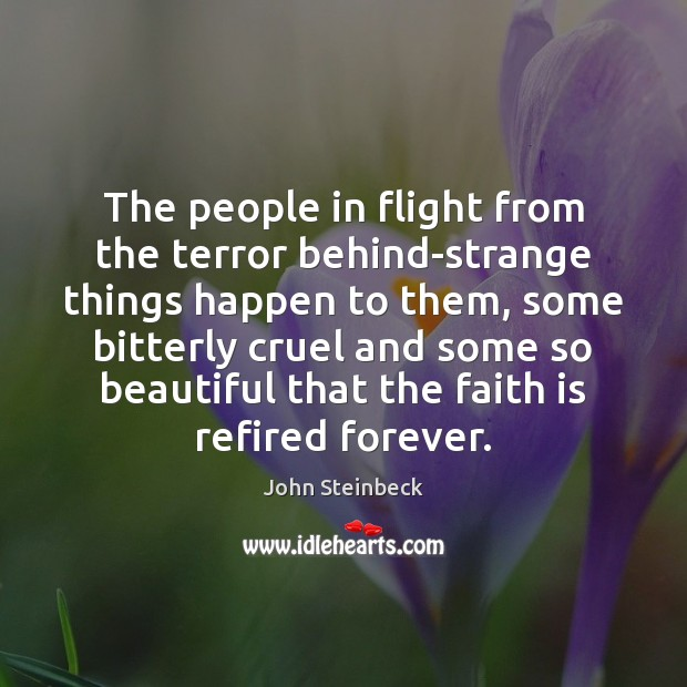 Image, The people in flight from the terror behind-strange things happen to them,