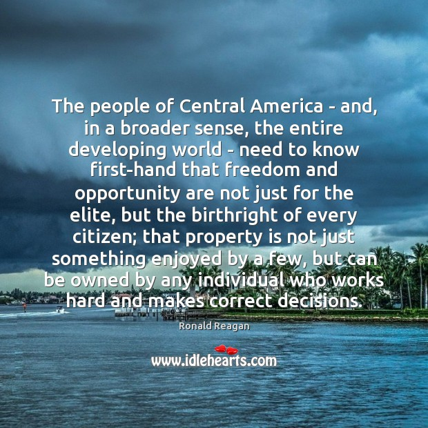 The people of Central America – and, in a broader sense, the Image