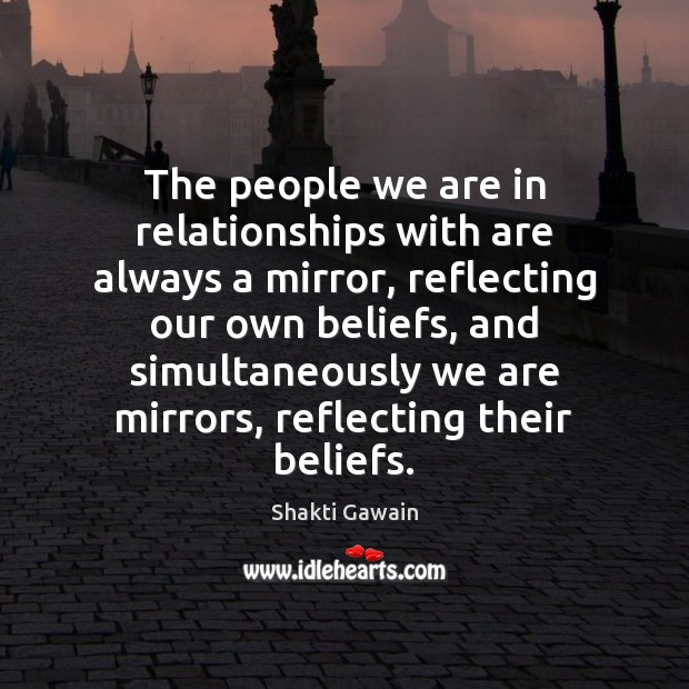 The people we are in relationships with are always a mirror, reflecting Image